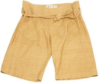 Marni \N Beige Silk Shorts
