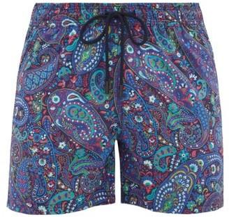 Etro Paisley-print Drawstring Swim Shorts - Blue Multi