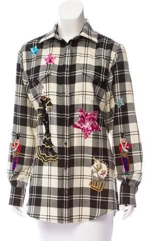 Dolce & Gabbana 2016 Embellished Plaid Top
