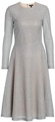 St. John Embellished Net Knit Midi Dress