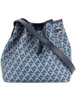 Lancaster geometric pattern drawstring shoulder bag