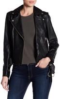 Muu Baa Muubaa Genuine Leather Biker Jacket