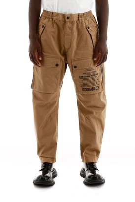 DSQUARED2 Printed Pocket Tapered Cargo Pants
