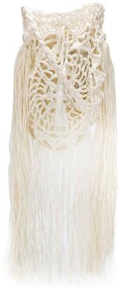 Alanui Crochet Fringed Bag