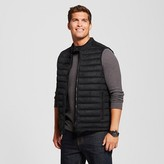 Men's Faux Suede Quilted Vest Black - Mossimo