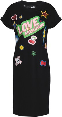 Love Moschino Sequined Printed Stretch-jersey Dress