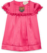 Gucci Baby satin dress with tiger