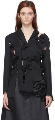 Noir Kei Ninomiya Black Bow Detail Blazer