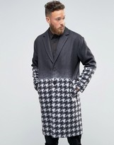 Rogues Of London Gradient Dogtooth Overcoat