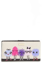 Kate Spade Women's Monster Party Stacy Coated Canvas Wallet - None