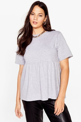 Nasty Gal Womens A Total Smock Out Plus Crew Neck Tee - Grey - 16, Grey