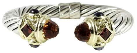 David Yurman Sterling Silver & 14K Yellow Gold Citrine, Iolite & Rhodolite Garnet Renaissance Bracelet