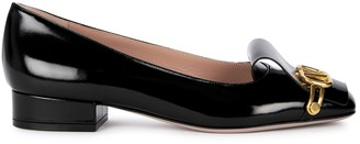 Valentino VClub 25 black leather pumps