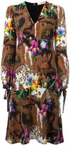 Etro floral print V-neck dress