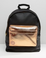 Mi-Pac Exclusive Tumbled Backpack with Rose Gold Pocket