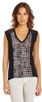 BCBGMAXAZRIA Women's Kerra Knit Sports Wear Top