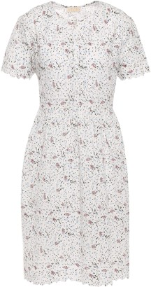 By Ti Mo Scalloped Floral-print Broderie Anglaise Cotton Mini Dress