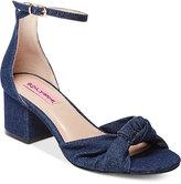 Betsey Johnson Ivee Block-Heel Sandals Women's Shoes
