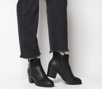 Office Amara Zip Detail Ankle Boots Black Mix