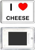 BadgeBeast I Love Cheese - Plastic Fridge Magnet