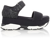 Marni Women's Neoprene & Glitter Platform Sandals-BLACK