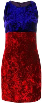Versace Pre-Owned crushed velvet mini dress