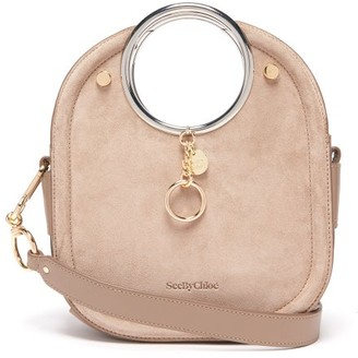 See by Chloe Mara Suede And Leather Bag - Womens - Grey