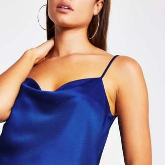 River Island Womens Blue sleeveless cowl neck cami