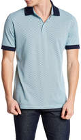 Stone Rose Pima Cotton Pique Print Polo