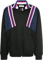 Facetasm stripe detailed windbreaker