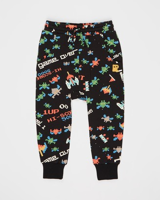Rock Your Kid ICONIC EXCLUSIVE - Game Over Drop Crotch Track Pants - Kids