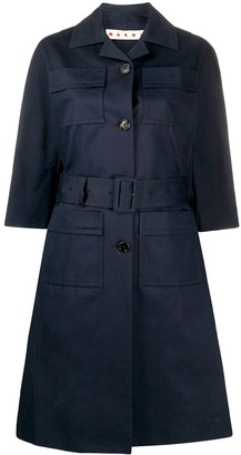 Marni Single-Breasted Belted Trench
