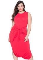 ELOQUII Plus Size Tie Front Dress