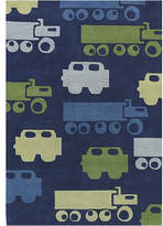 Chandra Kids Blue Car Area Rug Rug