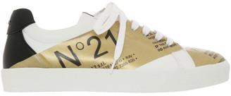 No.21 No. 21 Gymnic White/Gold Sneaker