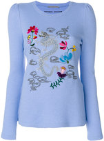Ermanno Scervino dragon embroidered jumper - women - Silk/Cashmere/Wool - 40