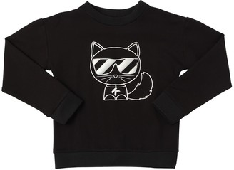 Karl Lagerfeld Paris Choupette Print Viscose Blend Sweatshirt