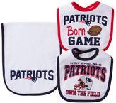 Baby New England Patriots 3-Piece Bib & Burp Cloth Set