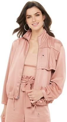 JLO by Jennifer Lopez Women's Cinched Sleeve Anorak Jacket