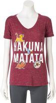 "Disney Disney's Juniors' The Lion King ""Hakuna Matata"" Graphic Tee"