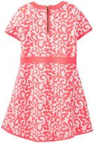 Milly Minis Minis Floral Jacquard Knit Dress (Big Girls)