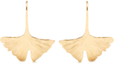 Aurelie Bidermann Ginkgo gold-plated earrings