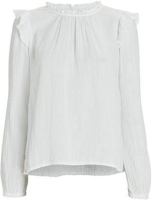 XiRENA Lanie Ruffled Cotton Blouse
