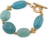 Lauren Ralph Lauren Gold-Tone Blue Stone Toggle Bracelet