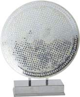 Pier 1 Imports White & Silver Decorative Mosaic Platter with Stand