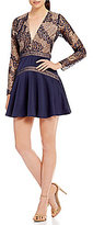 Style Stalker STYLESTALKER Nora Long Sleeve Lace Fit and Flare Dress