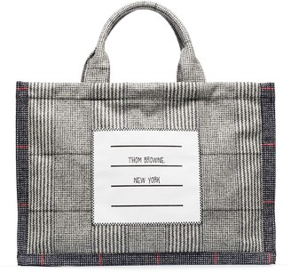 Thom Browne Grey checked tote bag