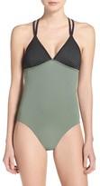 Zella Women's Colorblock One-Piece Swimsuit
