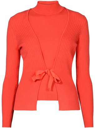 Rumour London Erika and Erin Coral Two-Piece Merino Wool Set