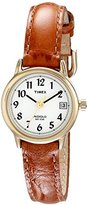 Timex Women's T2J761 Easy Reader Brown Croco Patterned Leather Strap Watch